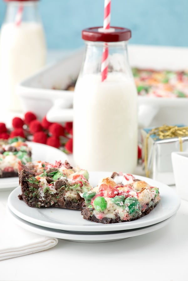 Holiday Chocolate Peppermint Magic Bars Gluten-Free - BoulderLocavore.com