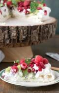 Holiday Pavlova with Kiwi, Raspberry, Pomegranate and Mint