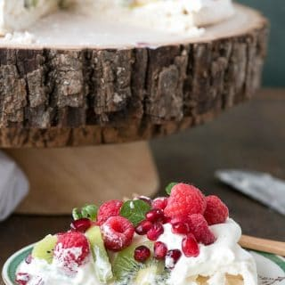 Pavlova with Kiwi, Raspberry, Pomegranate and Mint - BoulderLocavore.com