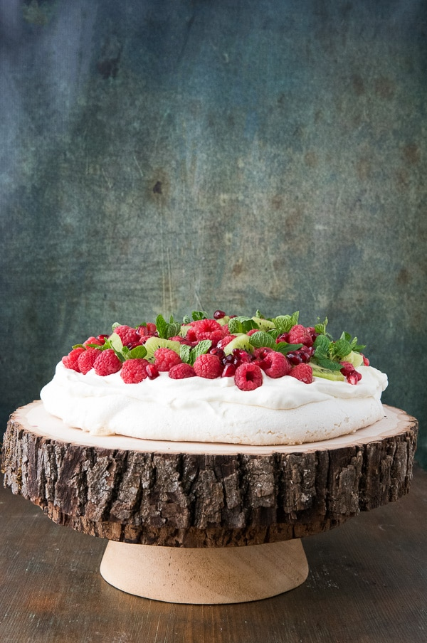 avlova with Kiwi, Raspberry, Pomegranate and Mint - BoulderLocavore.com