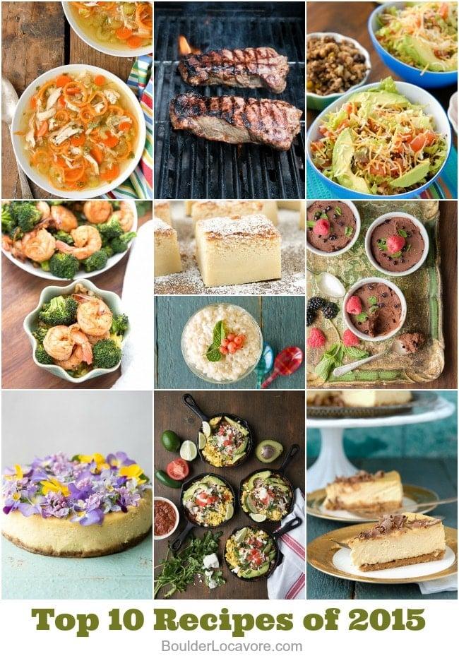 Top 10 Recipes of 2015 from BoulderLocavore.com. All delicious, all gluten-free.
