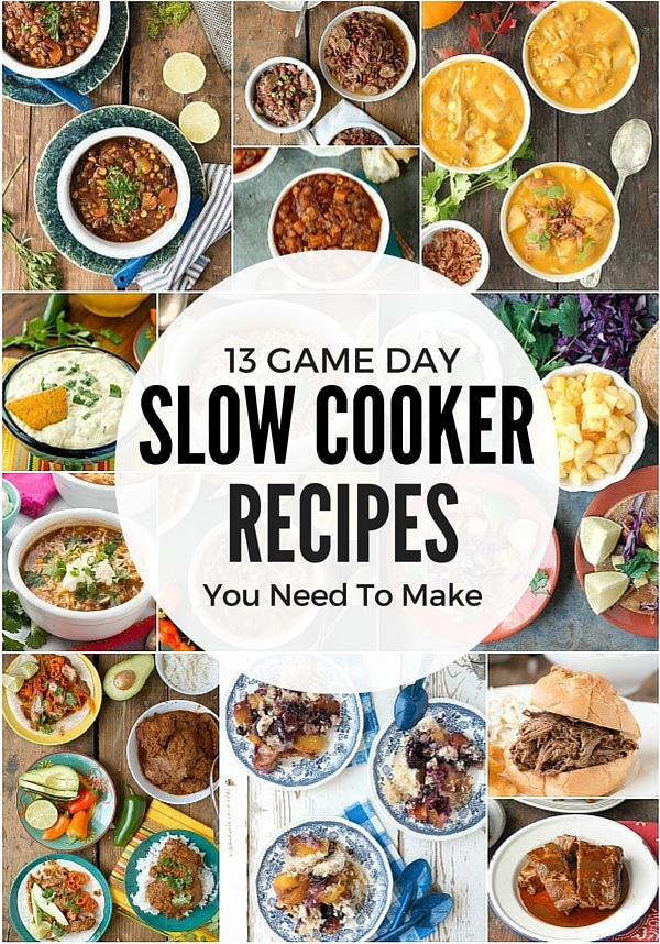 13 Game Day Slow Cooker Recipes You Need To Make. Sandwiches, chili, soup, dip, meatballs, even dessert. All are gluten-free too!