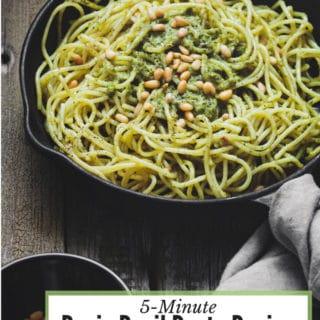 Fast easy Basic Basil Pesto Recipe