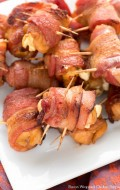 Bacon Wrapped Chicken Poppers