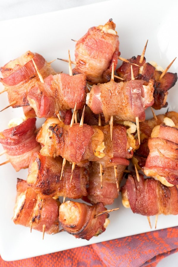 Bacon Wrapped Chicken Poppers, Barbecue chicken breasts, cream cheese, jalapeno, wrapped in bacon! - BoulderLocavore.com