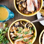 Cuban Garlic Chicken Bowls with Cuban Black Beans & Rice, Fried Plantains & Mojo Sauce (recipe) - BoulderLocavore.com