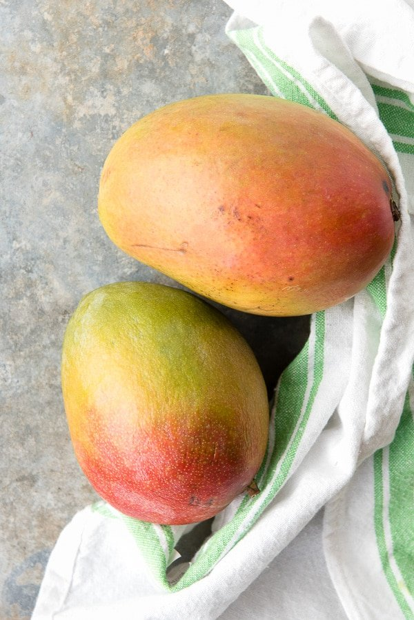 Ripe Mangoes for Mangoes Diablo (mangos flambeed in tequila) - BoulderLocavore.com