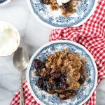 Slow Cooker Cherry Spice Cake Cobbler