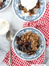 Slow Cooker Cherry Spice Cake Cobbler. An effortless homey, dessert to brighten any day! - BoulderLocavore.com