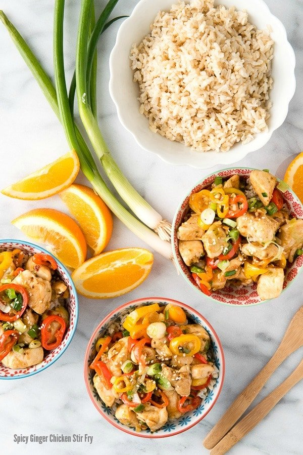 Spicy Ginger Chicken Stir Fry