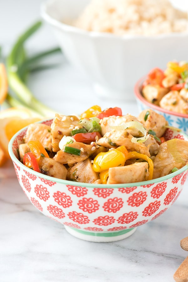 Spicy Ginger Chicken Stir Fry. Super easy, fast to prepare and everyone loves it! - BoulderLocavore.com