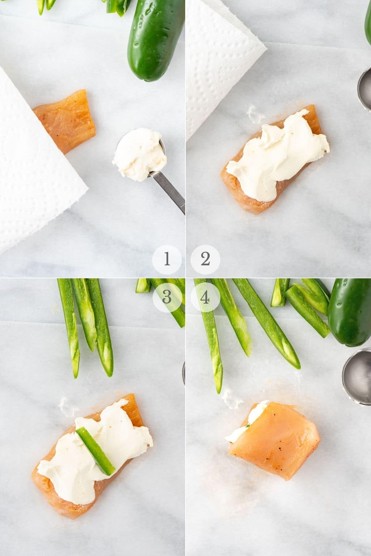 chicken jalapeno poppers recipe steps 1-4