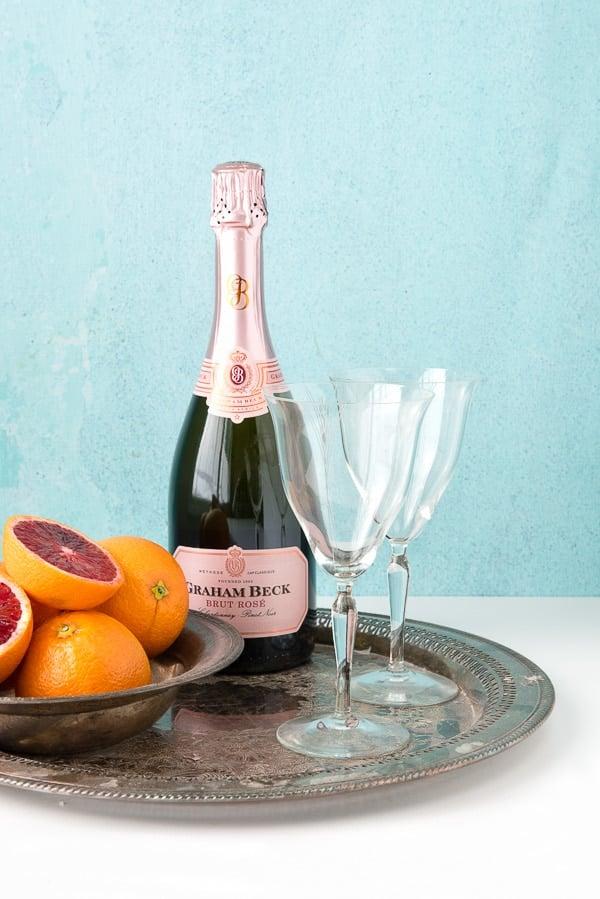 Blood Orange Mimosas with Brut Rose Sparkling Wine - BoulderLocavore.com