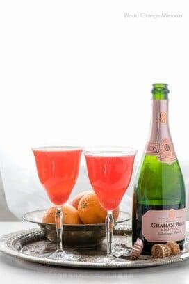 Blood Orange Mimosas with Rose Champagne