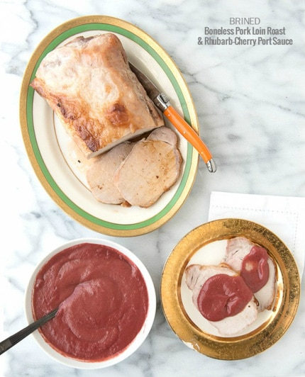 Boneless Pork Loin Roast with Rhubarb-Cherry Port Sauce recipe - BoulderLocavore.com