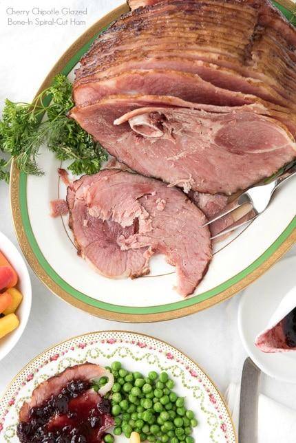 Cherry Chipotle Glazed Bone in Spiral Cut Ham recipe - BoulderLocavore.com