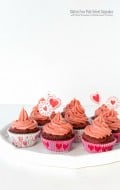 Gluten-Free Pink Velvet Cupcakes with Real Strawberry Buttercream Frosting