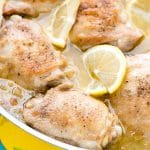 Irresistible Lemon-Garlic Braised Chicken Thighs