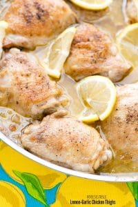 Irresistible Lemon-Garlic Chicken Thighs. Quick and easy! - BoulderLocavore.com