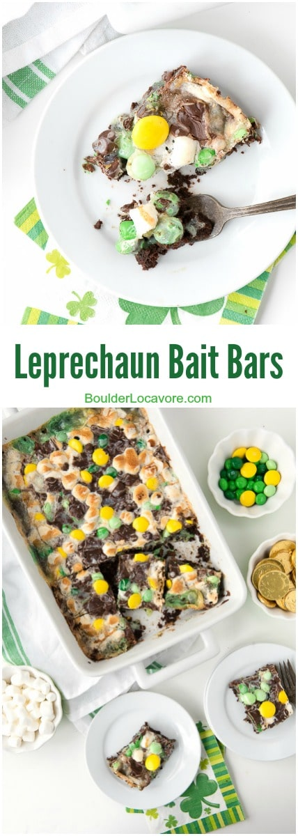 Leprechaun Bait Bars. Chocolate, mint and bit of gold to boot. Sure to attract leprechauns and humans alike! - BoulderLocavore.com