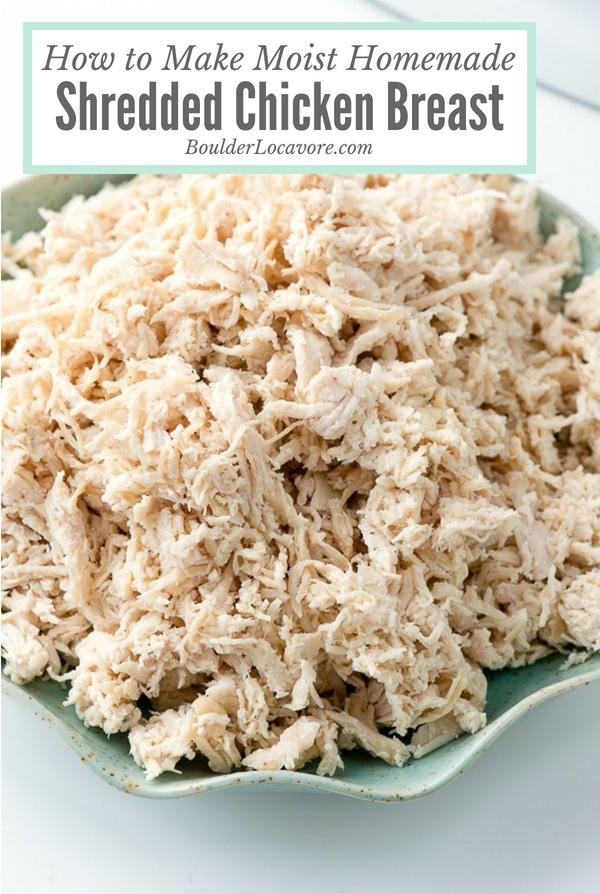 Moist Homemade Shredded Chicken Breast title photo