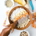 Roasted Banana Chia Pudding Breakfast Bowl