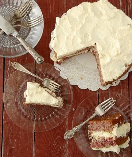 Sour Cream Cherry Cake recipe - BoulderLocavore.com_