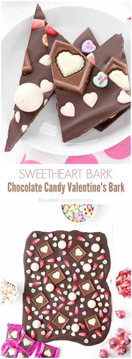 Sweetheart Bark Chocolate Candy Valentine's Bark BoulderLocavore.com