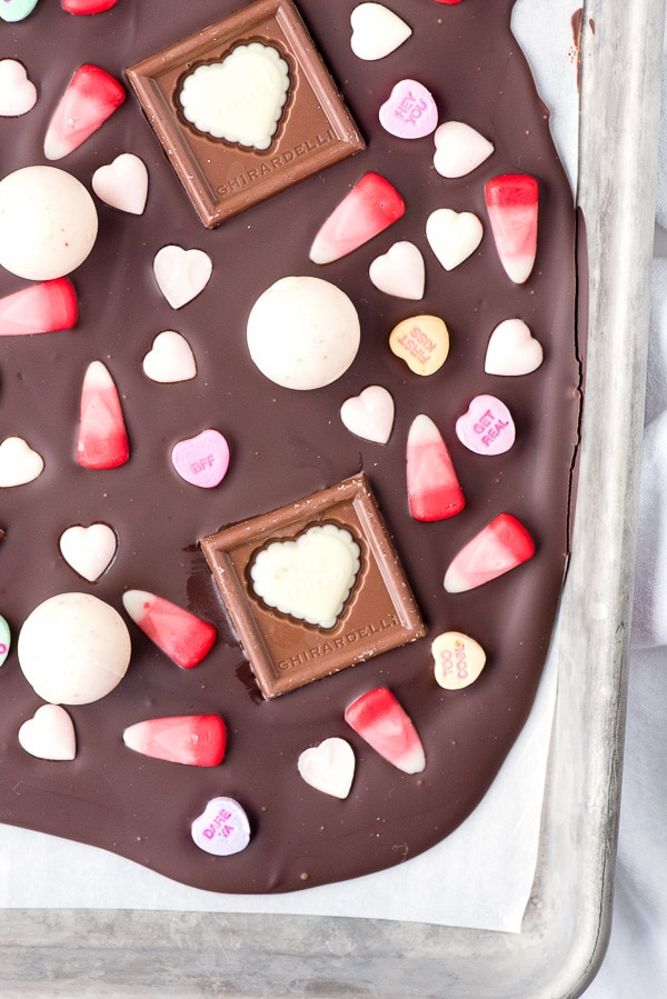 Sweetheart Bark Valentine\'s Candy Chocolate Bark