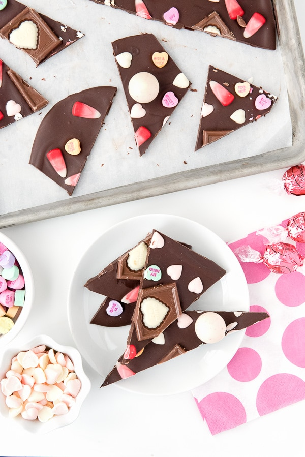 Sweetheart Bark- Chocolate Candy Valentine\'s Day Bark
