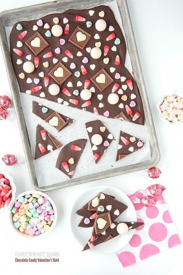 Sweetheart Bark- Chocolate Candy Valentine's Day Bark - BoulderLocavore.com