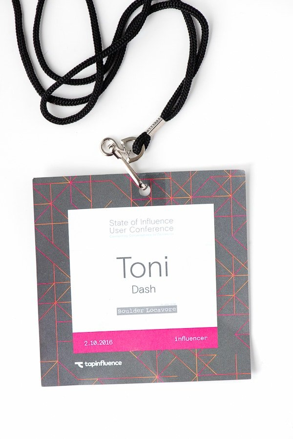 Tapinfluence State of Influence Conference 2016 badge - BoulderLocavore.com
