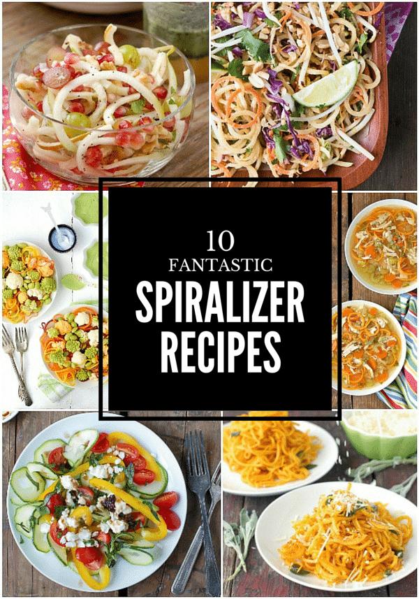 10 Fantastic Spiralizer Recipes. Fruits, vegetables, soups, salads and main dishes! BoulderLocavore.com