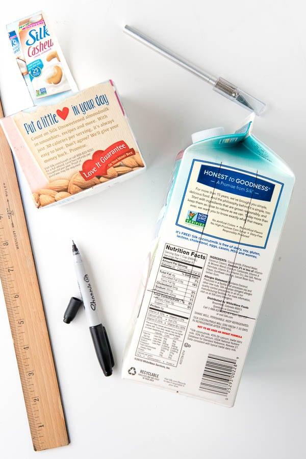 DIY Easy Milk Carton Baskets tutorial - BoulderLocavore.com
