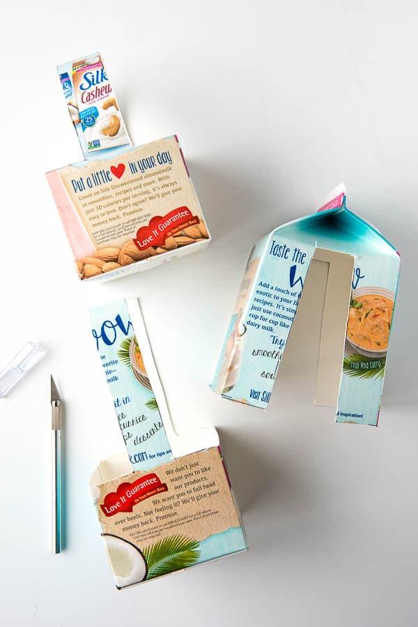photo tutorial for making a milk carton basket