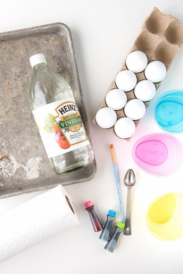 supplies to make cascarones confetti eggs