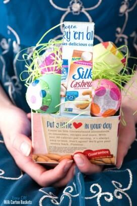 DIY Milk Carton Easter Baskets