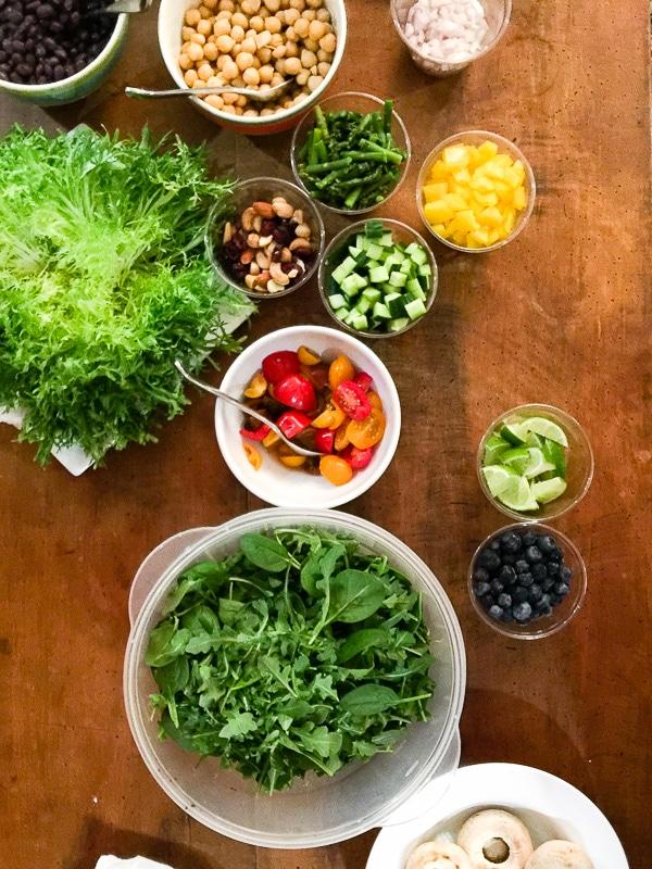 Food prep table - Miami (close up) - BoulderLocavore.com