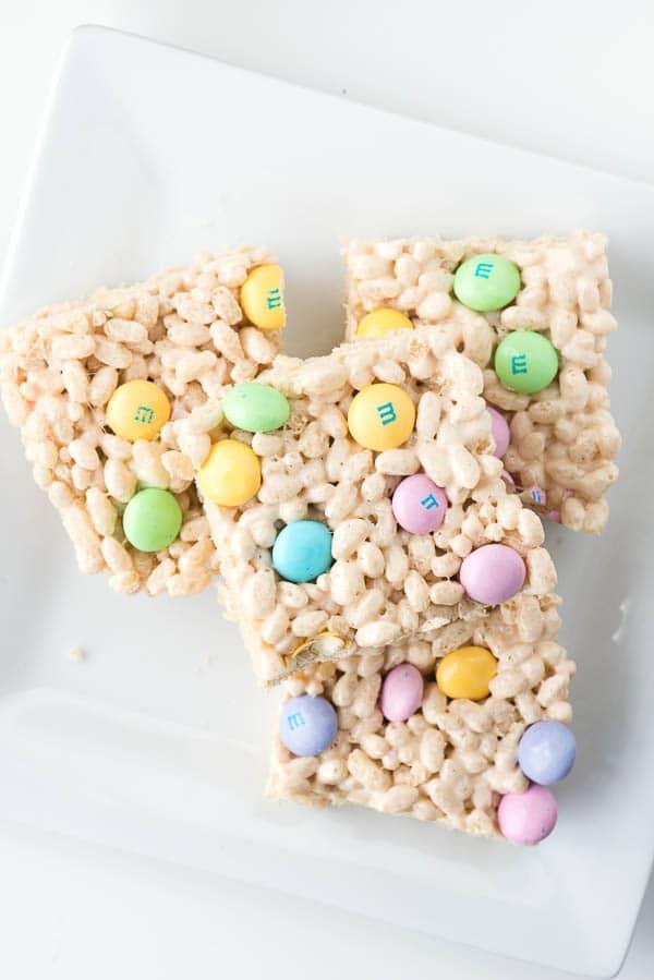 Fruity Springtime Crispy Rice Cereal Treats - BoulderLocavore.com