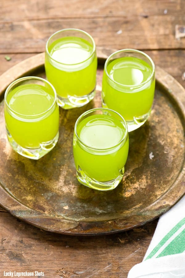 Lucky Leprechaun Shots. A tropical shot any leprechaun would love! - BoulderLocavore.com