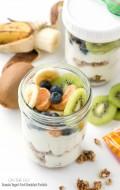 On The Go Granola-Yogurt-Fruit Breakfast Parfaits