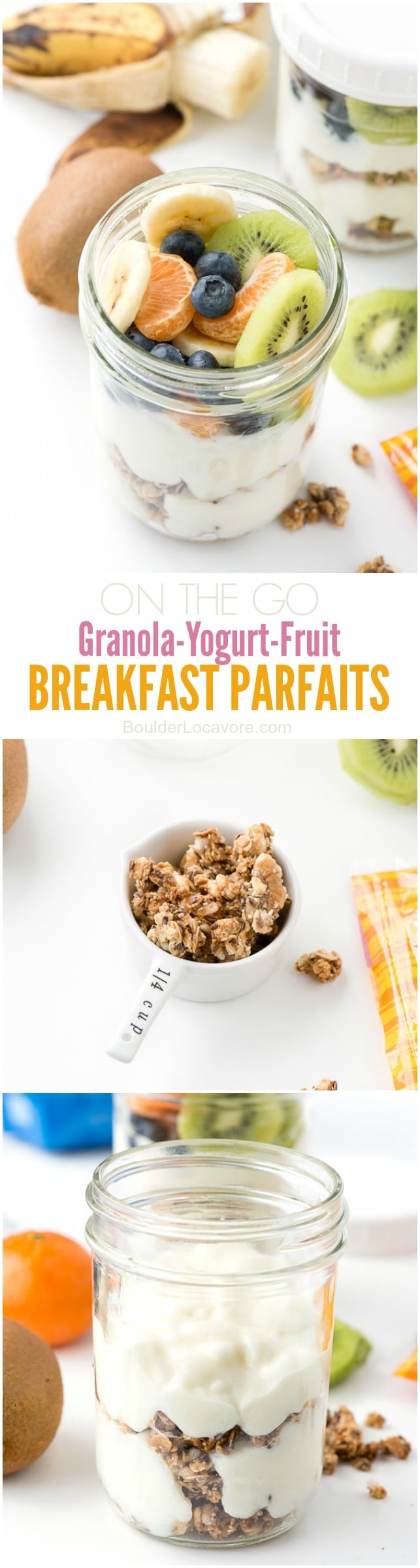 Granola and Yogurt collage