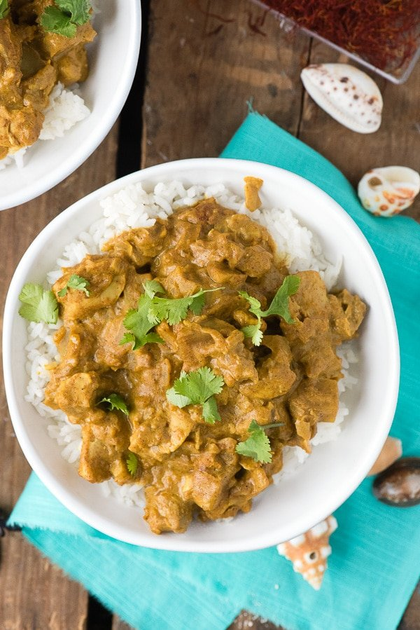 Seychelles-style Coconut Chicken Curry. An recipe true to the style of the tropical paradise with unique flavors you'll love! BoulderLocavore.com