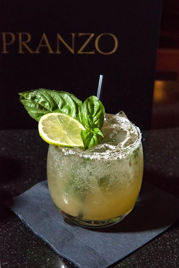 Basil White Peppercorn Margarita (Pranzo Italian Grill) - BoulderLocavore.com