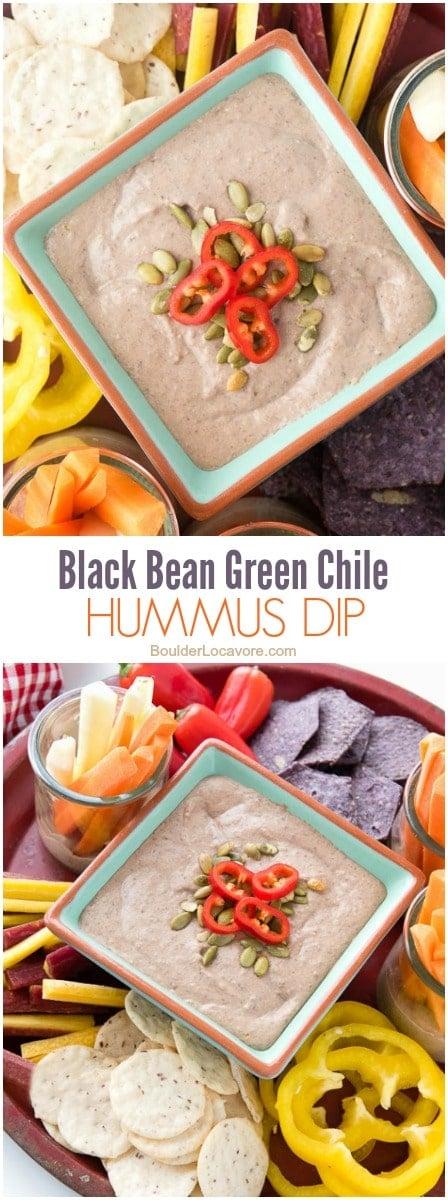 Hummus dip collage