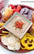 Black Bean Green Chile Hummus Dip