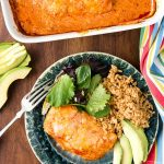 Green Chile Sour Cream Enchilada Chicken Breasts