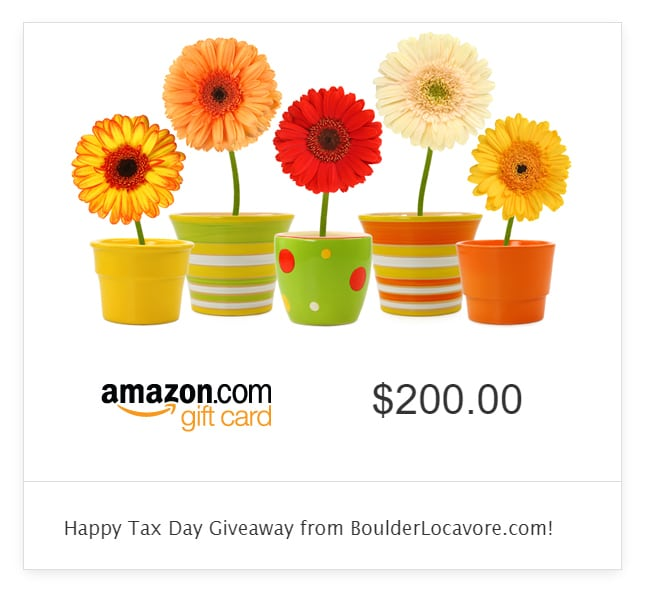 Happy Tax Day $200 Amazon.com Gift Card Giveaway!