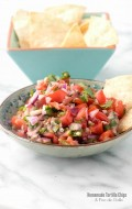 Homemade Corn Tortilla Chips and Pico de Gallo