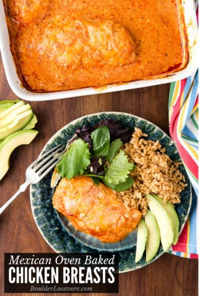 Oven Baked Chicken Breasts with Mexican Flavors title image
